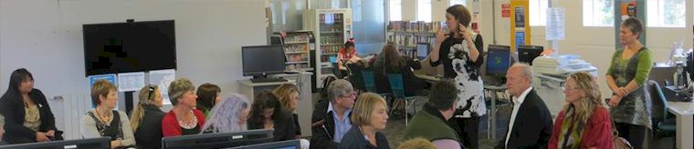 Many Stepping UP course module classes are held in public libraries.